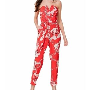 Yumi Kim Silk Floral Hot To Trot Jumpsuit XS